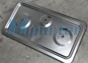 Gas cooking top plate